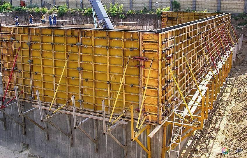 Виды опалубки для монолитного строительства стен и перекрытий