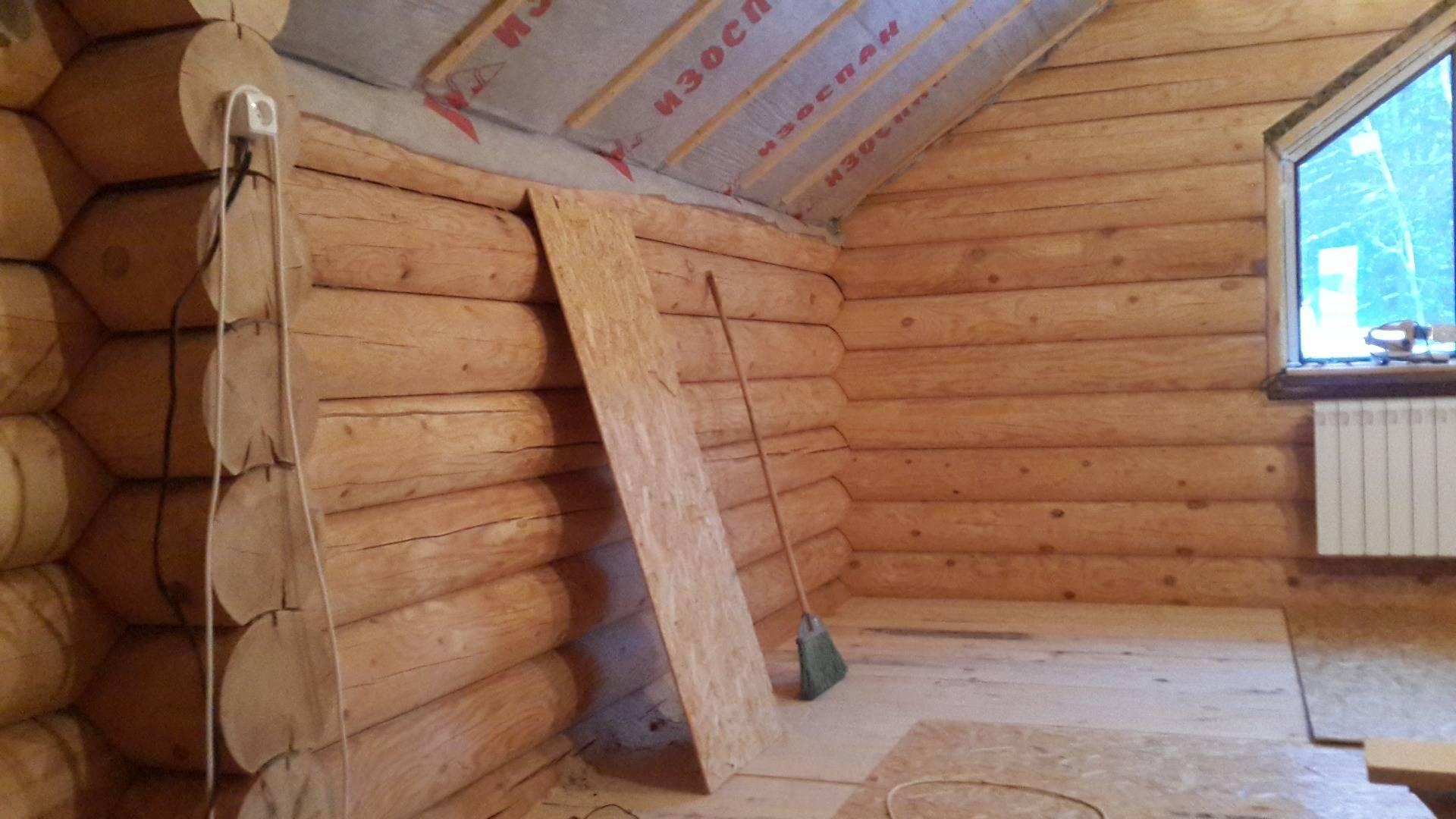 Усадка дома из оцилиндрованного бревна - сколько длится?