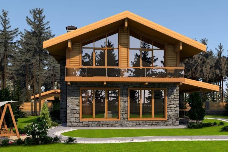 Комбинированные дома в стиле шале: архитектурные особенности и проекты жилищ