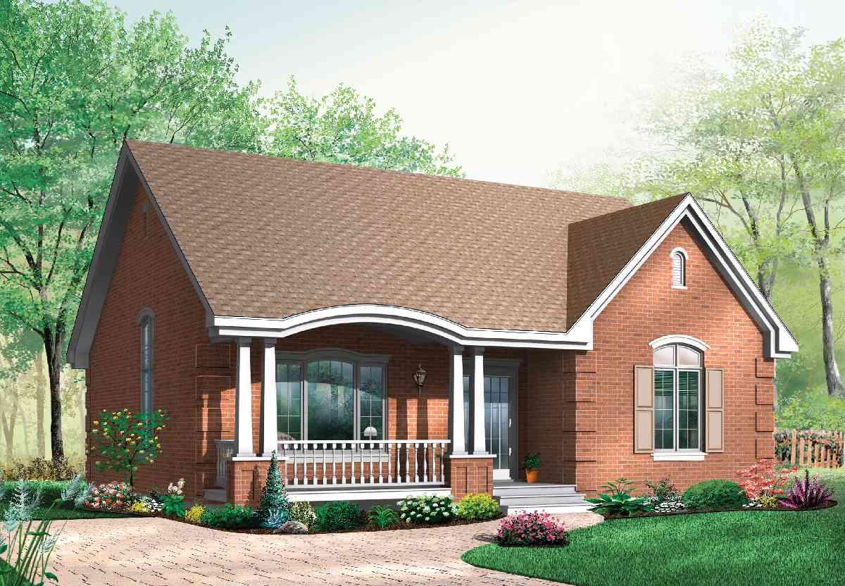 Кирпичный маленький дом. маленькие дома — дизайн и проектировка удобных для проживания жилищ (65 фото-идей)