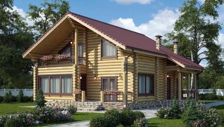 Дома из бревна с мансардой: особенности возведения