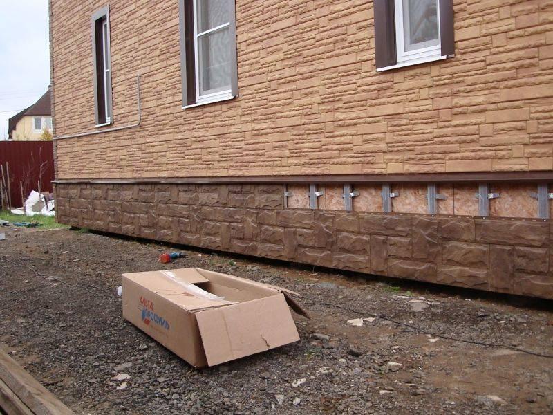 Отделка фундамента - материалы для облицовки фундамента дома. чем облицевать фундамент дома недорого