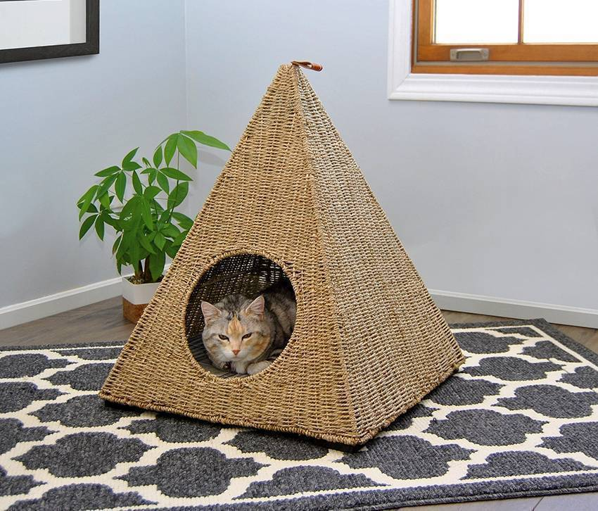 Способы изготовления домика для кошки своими руками