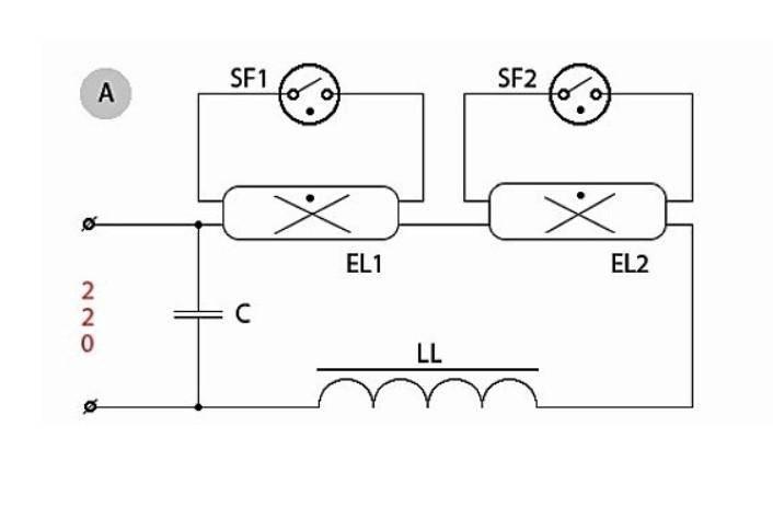 Как подключить люминесцентную лампу с традиционным электромагнитным дросселем, с электронным дросселем, с перегоревшими нитями разогрева, а также полезные советы для увеличения срока эксплуатации ламп