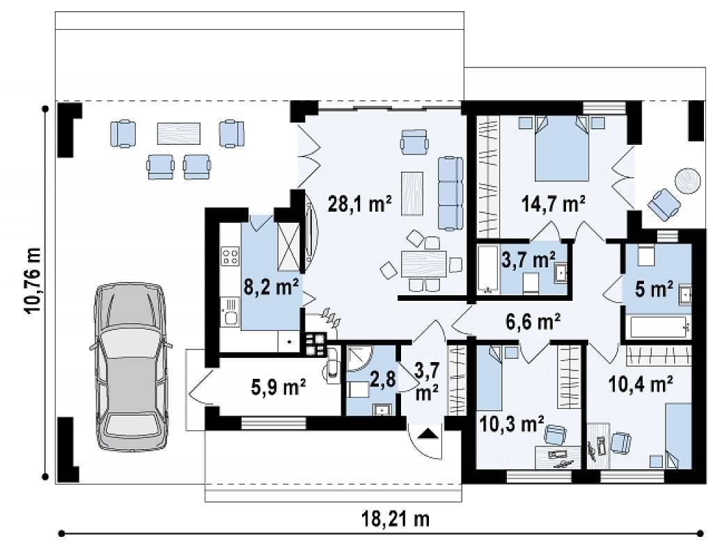 Проекты домов в современном стиле хай-тек