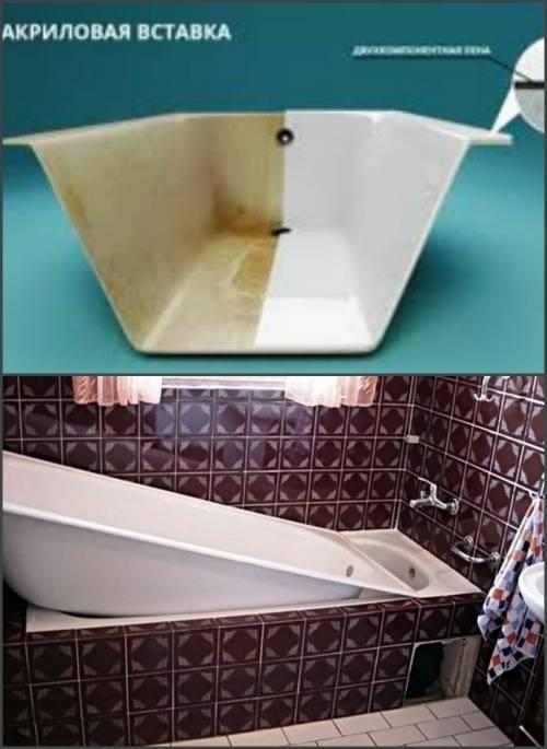 Акриловый вкладыш ванна в ванной, акриловая вставка в ванну