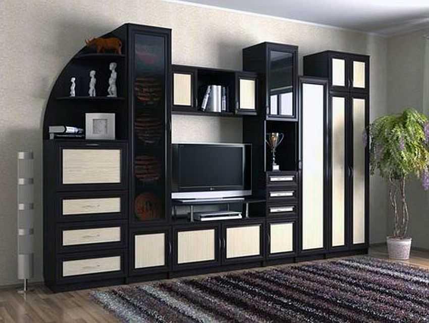 Мини-горки в гостиную (57 фото): современные маленькие горки-стенки в интерьере зала. выбор небольших дизайнерских горок