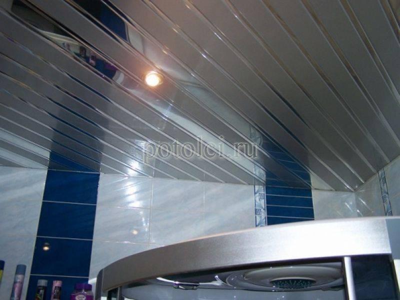 Реечный потолок в ванной комнате, преимущества и правила монтажа