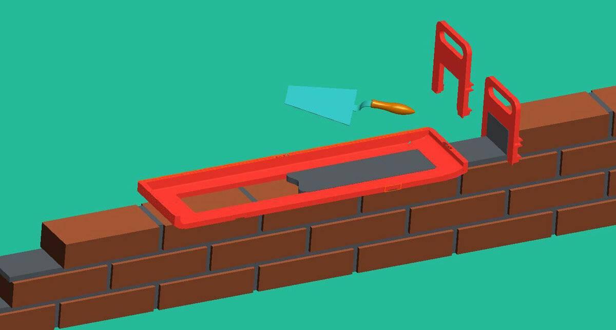 Приспособление для кладки кирпича: шаблон, набор инструментов и приспособы каменщика для кирпичной укладки столбов своими руками и заполнения швов