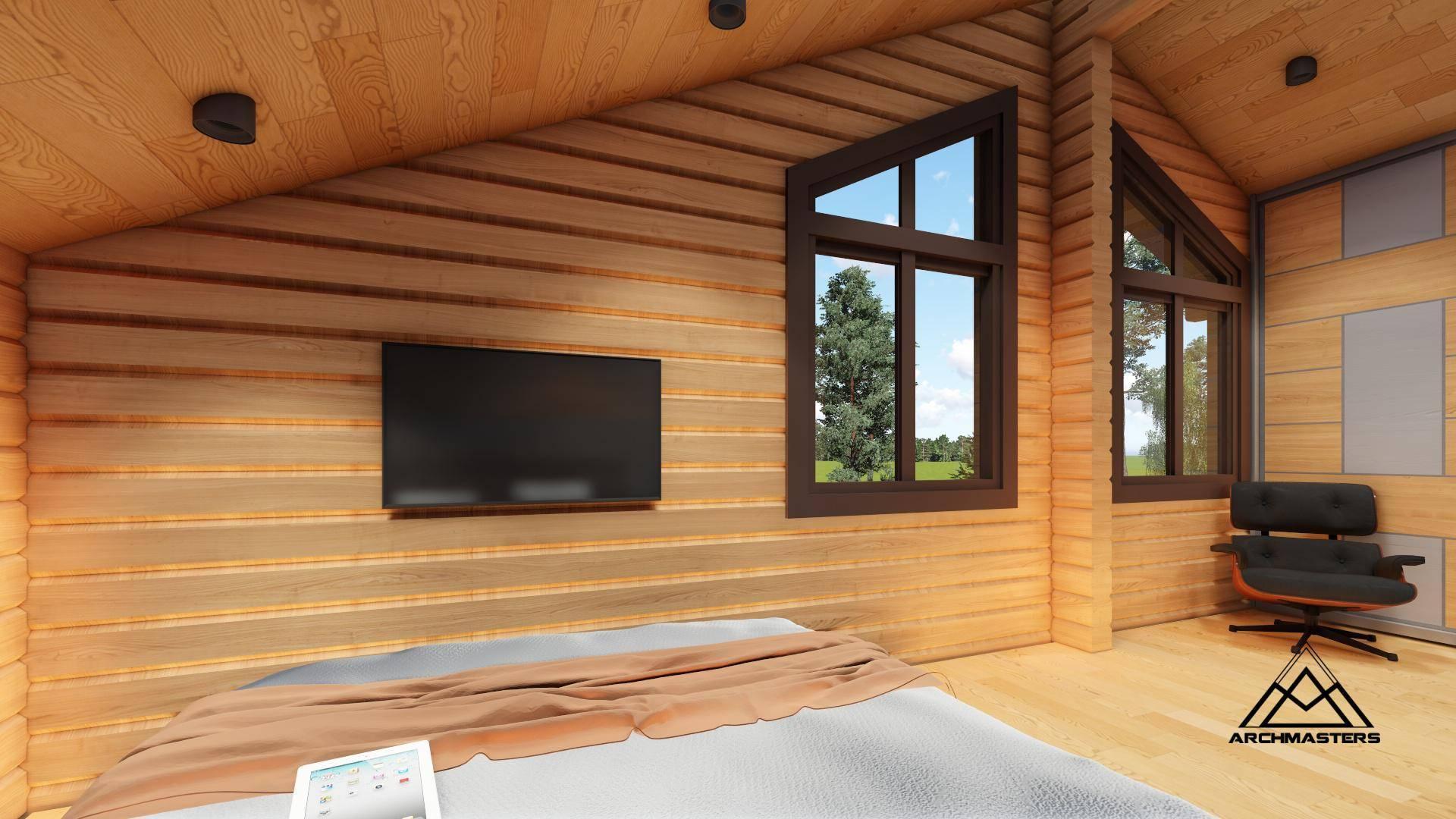 Блок хаус и фото домов с интерьером