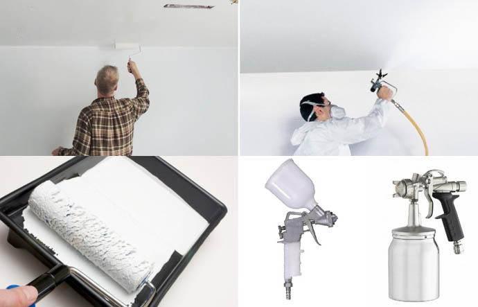 Правильная покраска потолка водоэмульсионной краской: валиком, краскопультом – ремонт своими руками на m-stone.ru