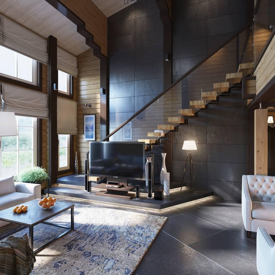 Дома из клееного бруса: проектирование и постройка быстровозводимых домов (115 фото)