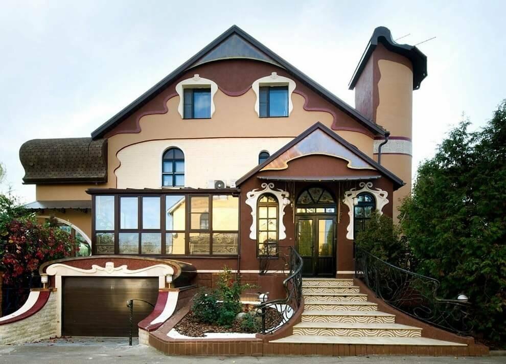 100 красивых вариантов дизайна: загородные коттеджи снаружи