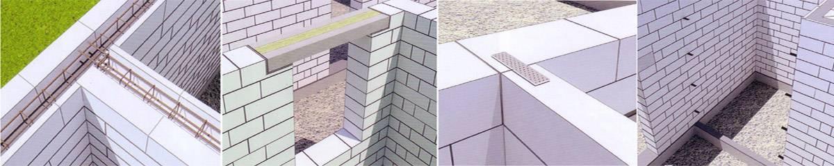 Кладка стен из газосиликатных блоков: технология (фото и видео)