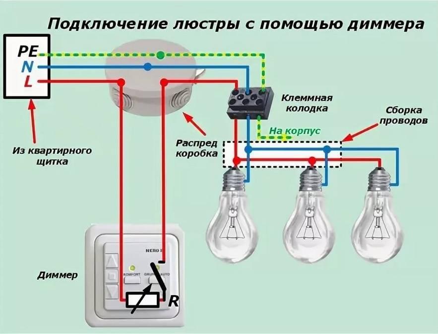 Как повесить люстру и подключить ее своими руками: собираем, вешаем на потолок и соединяем светильник с сетью (варианты схем)