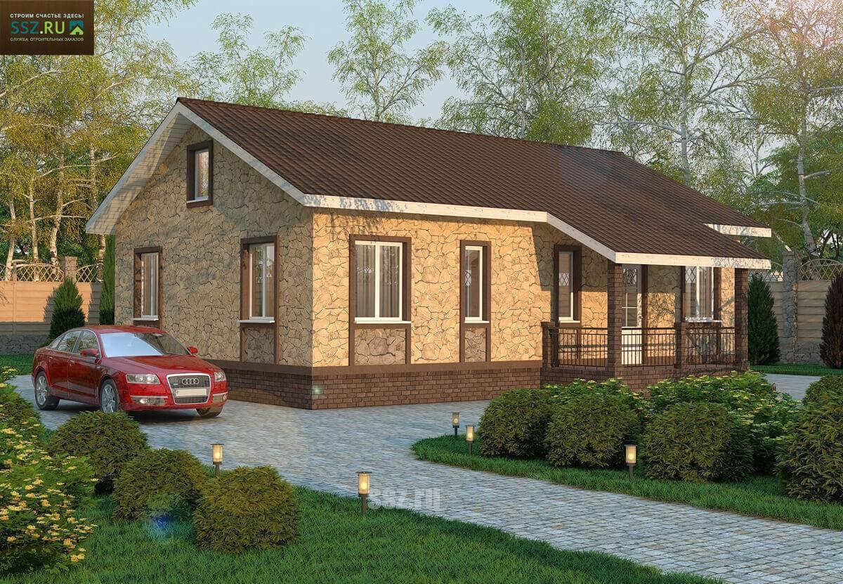 Проекты домов из сип панелей: дачные и одноэтажные с гаражом