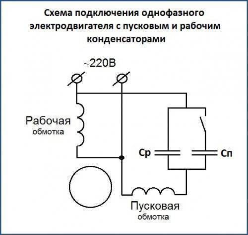 Однофазный асинхронный двигатель схема подключения - всё о электрике