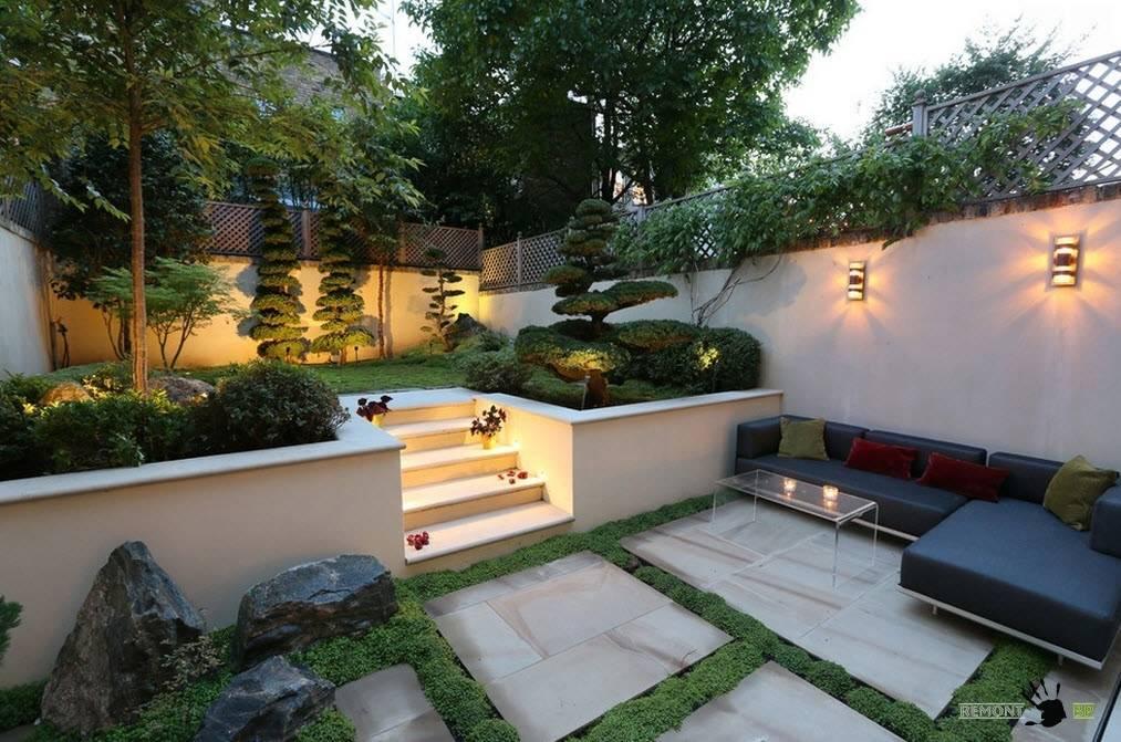 Как оформить дизайн двора частного дома - 115 фото лучших идей для ландшафтного дизайна