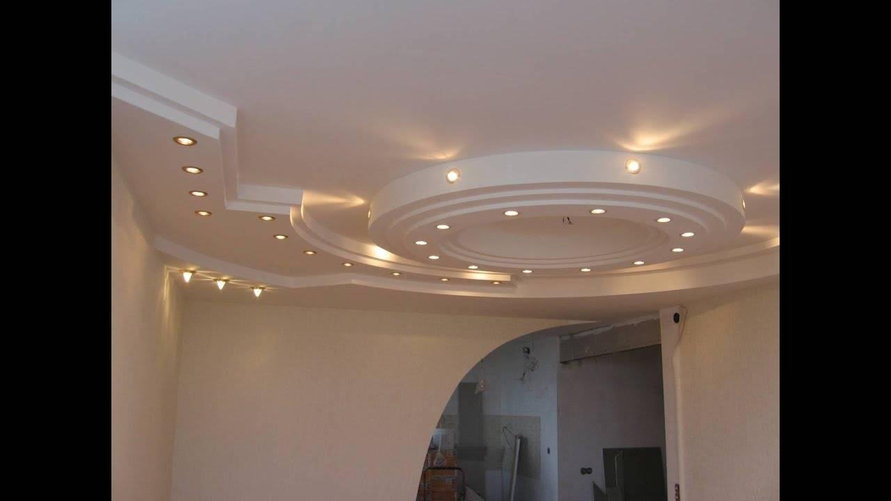 Двухуровневый потолок из гипсокартона с подсветкой своими руками