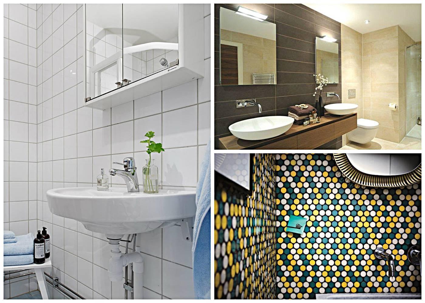 Укладка плитки в ванной: идеи дизайна