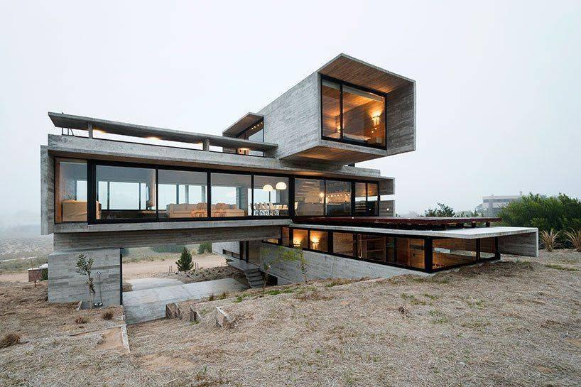 Деревянный дом со стеклянным фасадом. стеклянные дома с деревянным каркасом