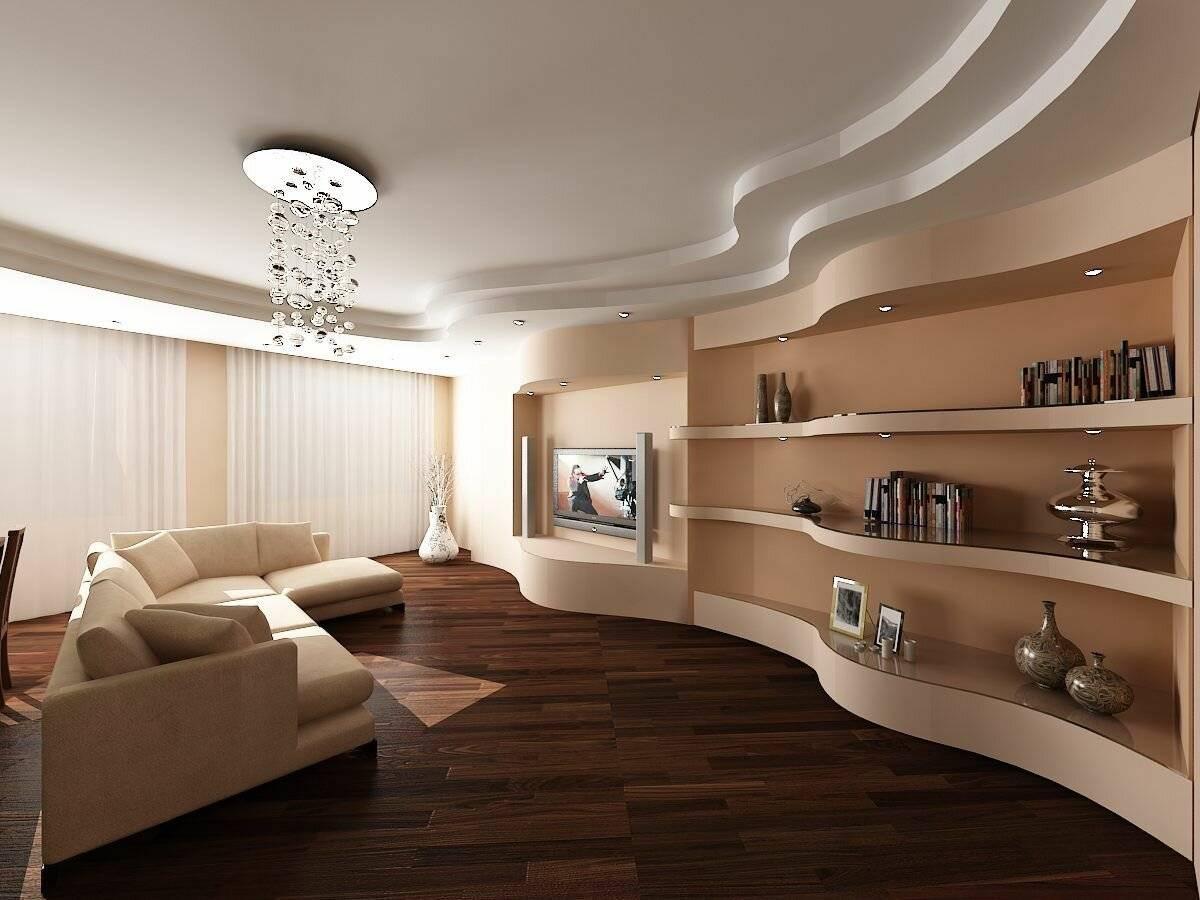 Потолок из гипсокартона (208 фото): подвесное полотно из гипсокартона, идеи-2020 дизайна красивых гипсокартонных потолочных покрытий