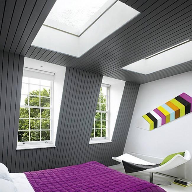 Дизайн спальни на мансарде +35 фото интерьера