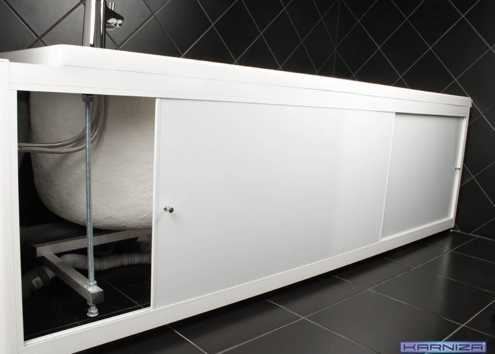 Экран под ванну из гипсокартона – конструкция и монтажа