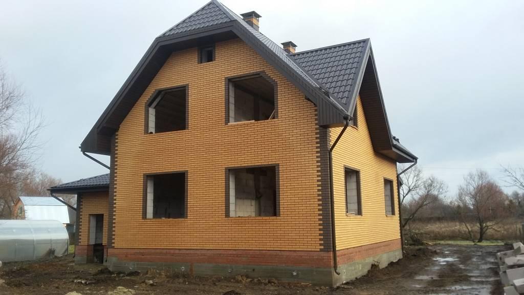 Желтый облицовочный кирпич: достоинства и недостатки кирпича цвета абрикос и персик + фото домов