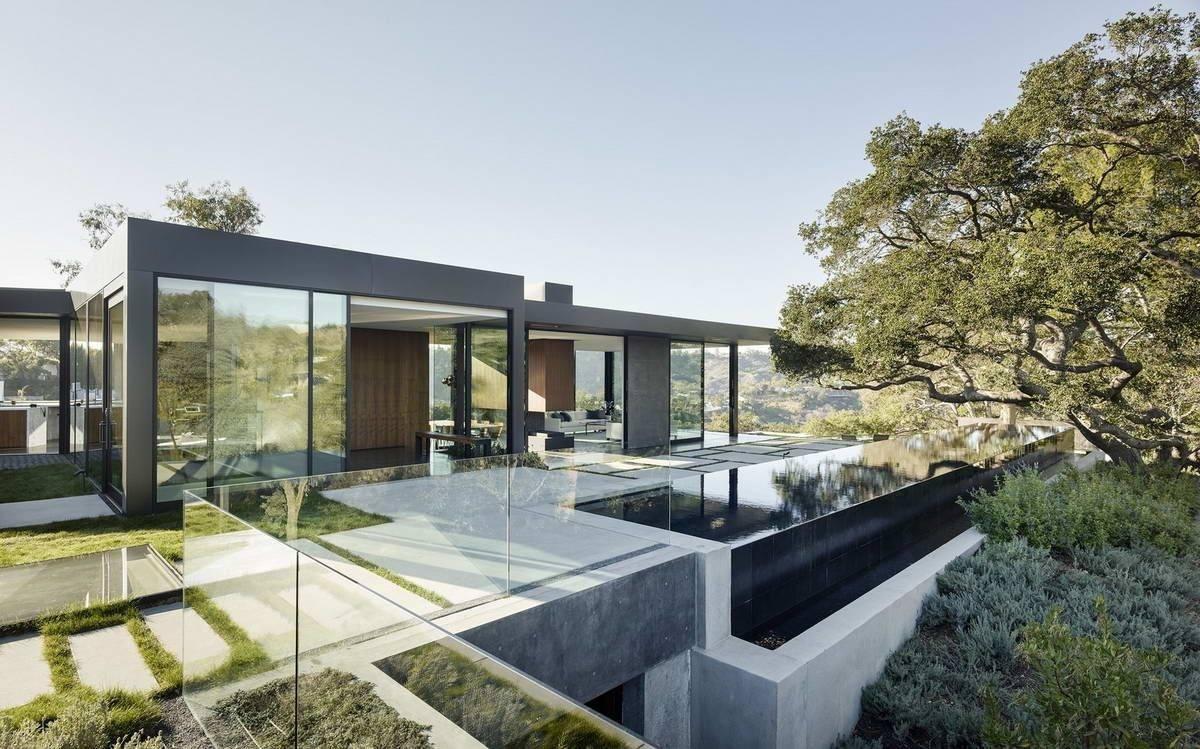 Современные дома со стеклянными стенами. стеклянные дома с деревянным каркасом