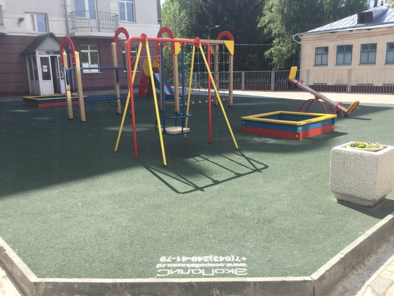 Резиновое покрытие для двора в москве и области.