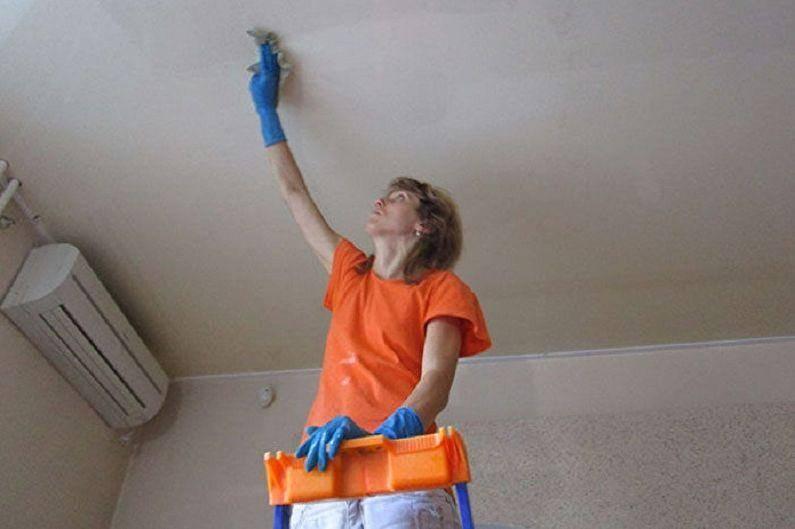Как и чем правильно мыть натяжные потолки