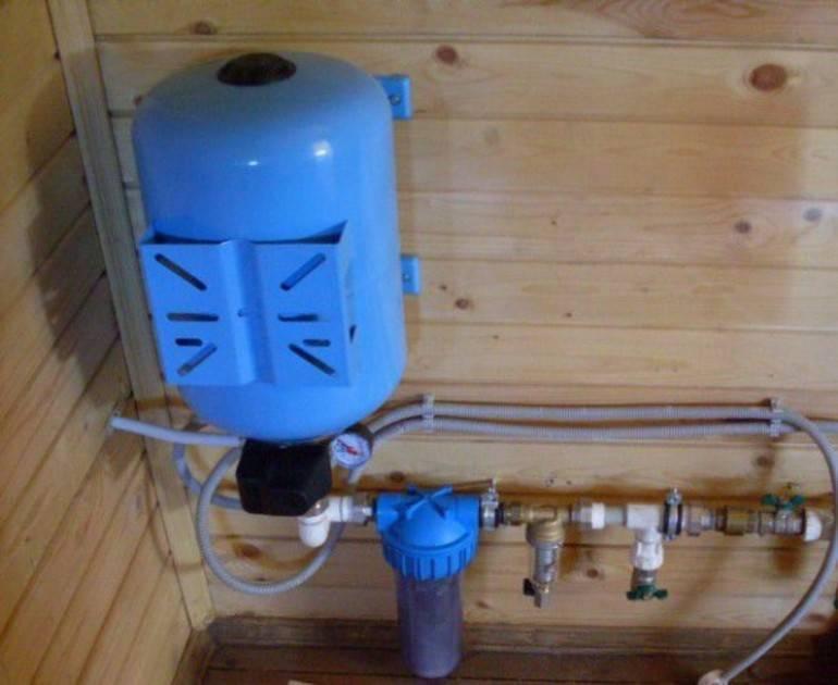 Параллельное соединение гидроаккумуляторов в насосной станции