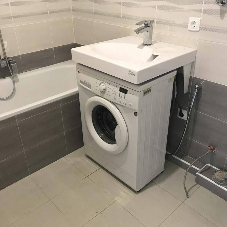 Раковина на стиральную машину: виды и особенности установки | ремонт и дизайн ванной комнаты