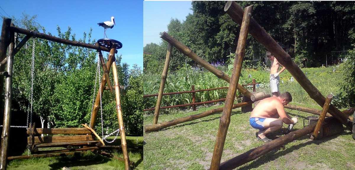 Садовые качели своими руками: как сделать надежные, качественные и красивые качели? (90 фото)