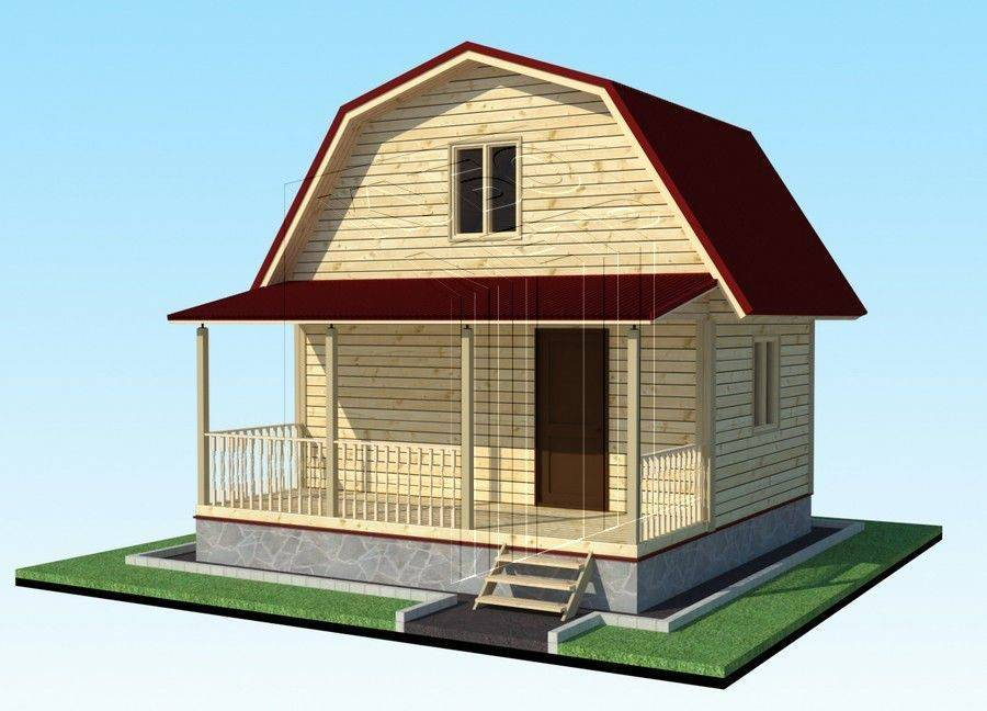 План дачного дома 6х6: расположение печи, планировка и устройство крыши
