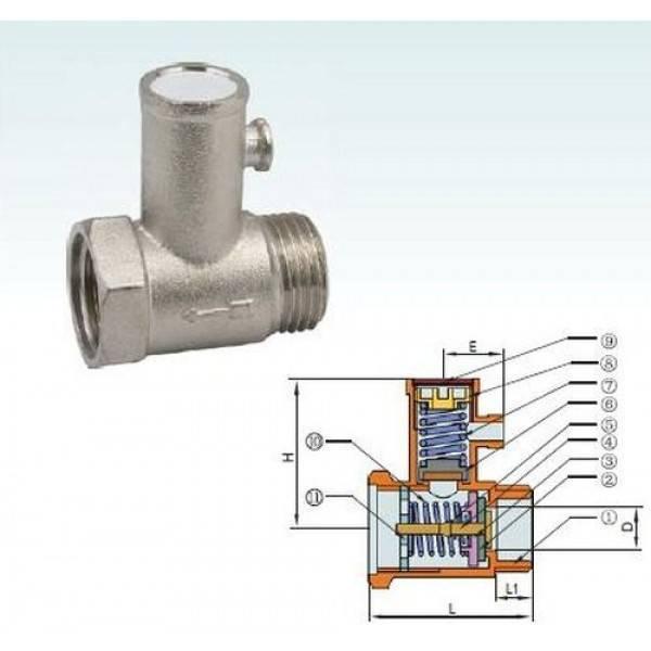 Устройство и принцип работы обратного клапана для водонагревателя