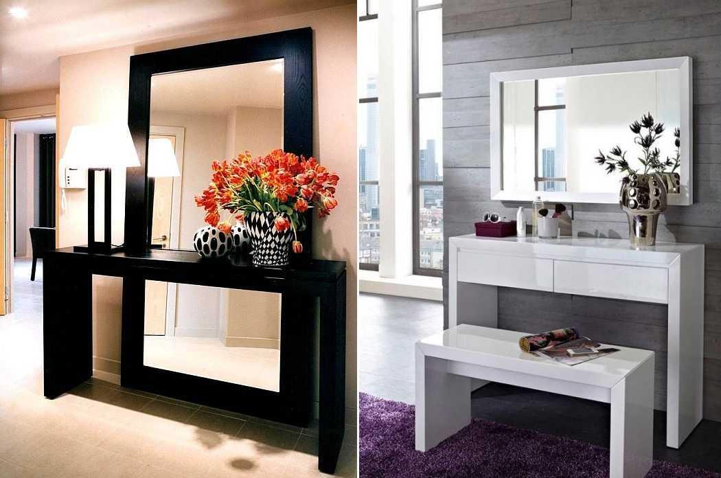 Туалетный столик с зеркалом (70+ фото)