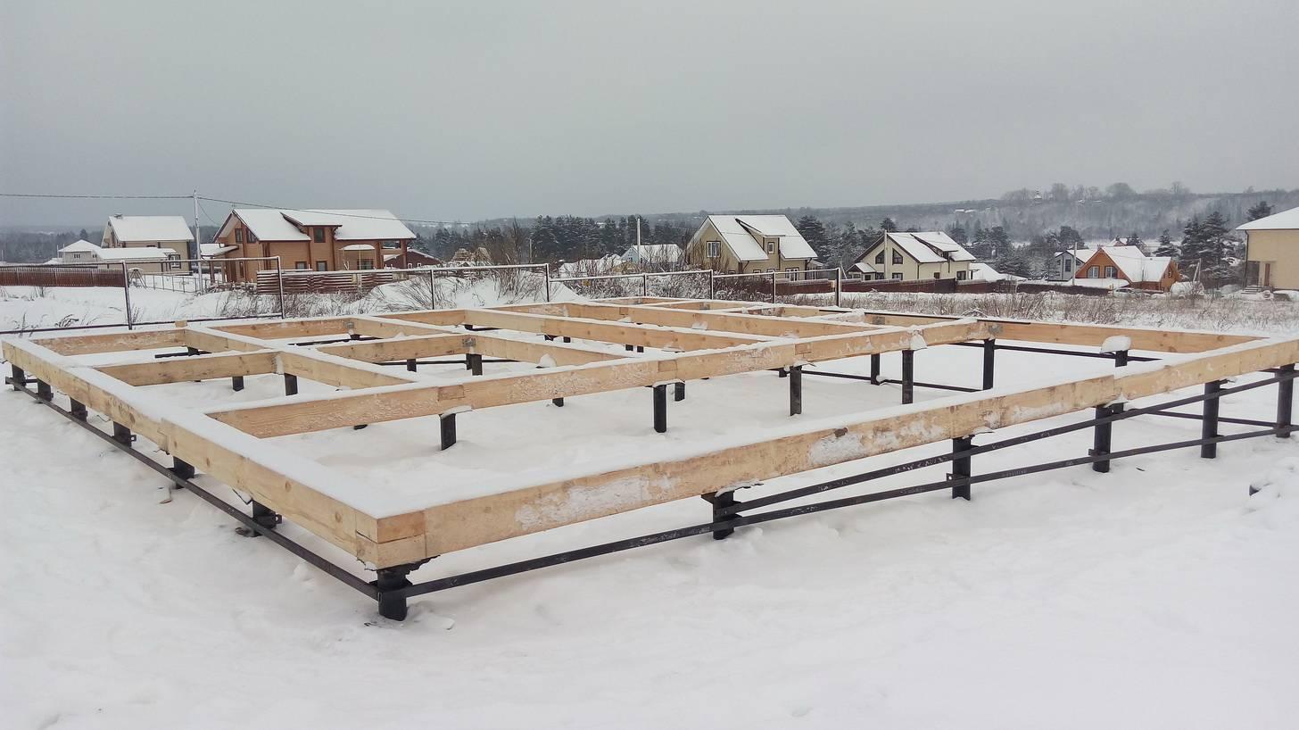 Можно ли заливать фундамент зимой?