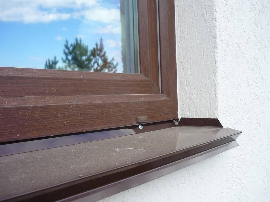 Как установить отливы на окна пластиковые или поставить на деревянные: как правильно сделать своими руками