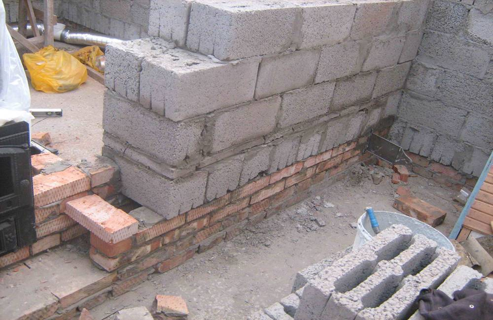 Пристройка к дому из шлакоблоков. создание фундамента и стен. оборудование проемов в стене. изготовление крыши