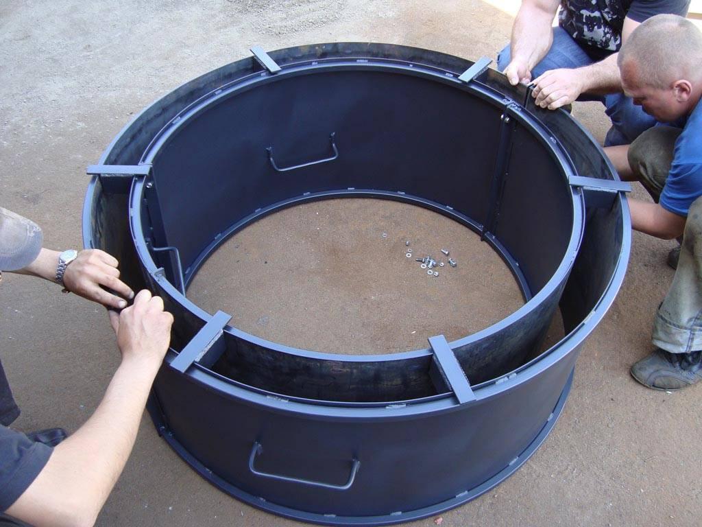 Формы для колодезных колец жби бетоных своими руками