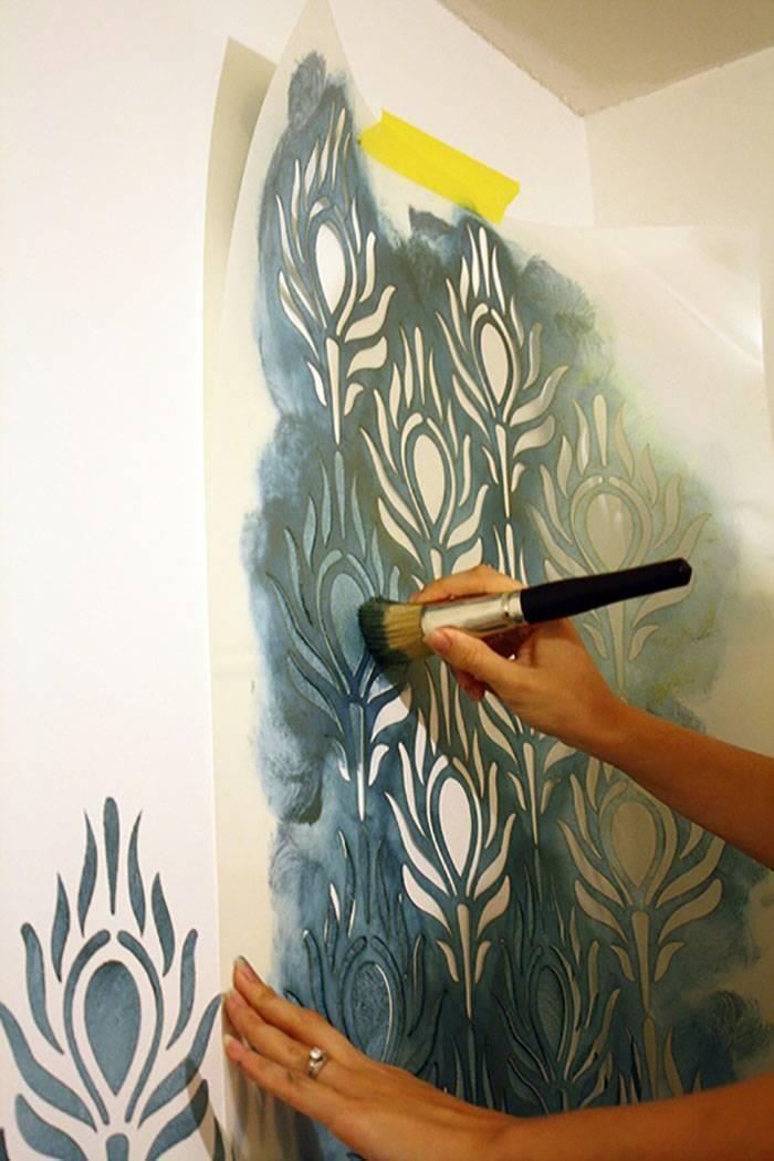 Как сделать трафарет для стен под покраску: способы изготовления