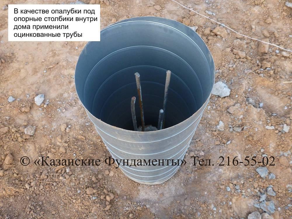 Опалубка для столбчатого фундамента из рубероида: плюсы и минусы, монтаж