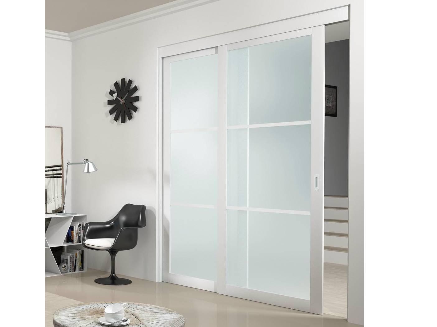 Раздвижные стеклянные двери - межкомнатные и перегородки, 4 вида конструкций