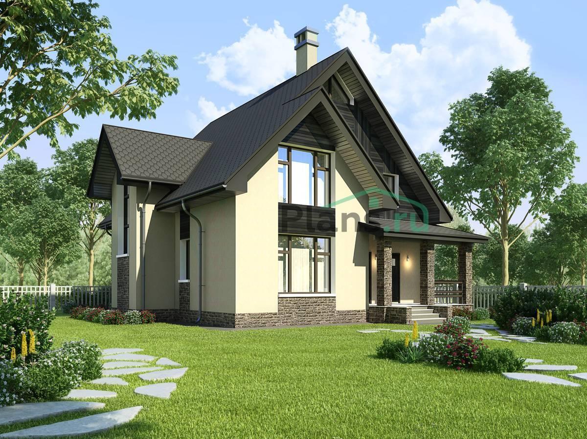 Проекты домов с мансардой и террасой (48 фото): красивые каркасные дачные конструкции, план загородного дома на склоне