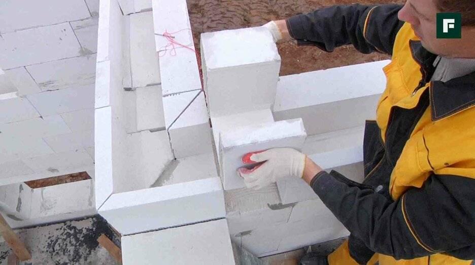 Основные правила и нюансы кладки стен из газосиликатных блоков