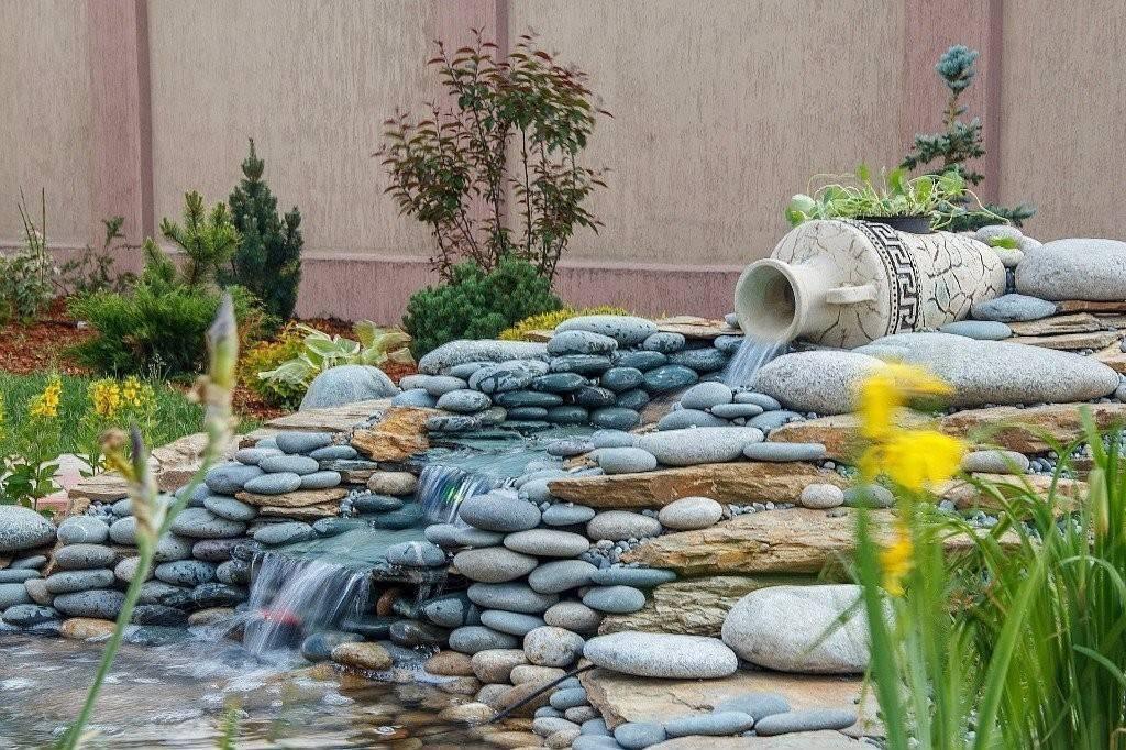 Искусственный водопад своими руками на даче или садовом участке