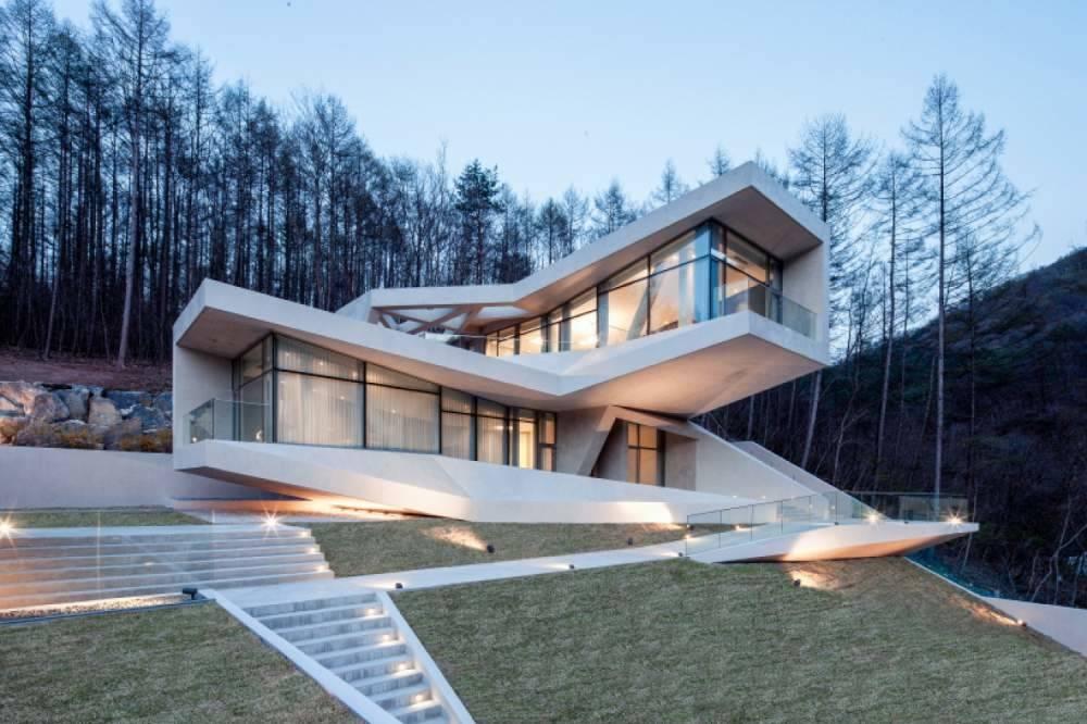 Стиль райта (64 фото): проекты двухэтажных и одноэтажных загородных домов, красивый интерьер и фасад коттеджей площадью до 200 кв. м