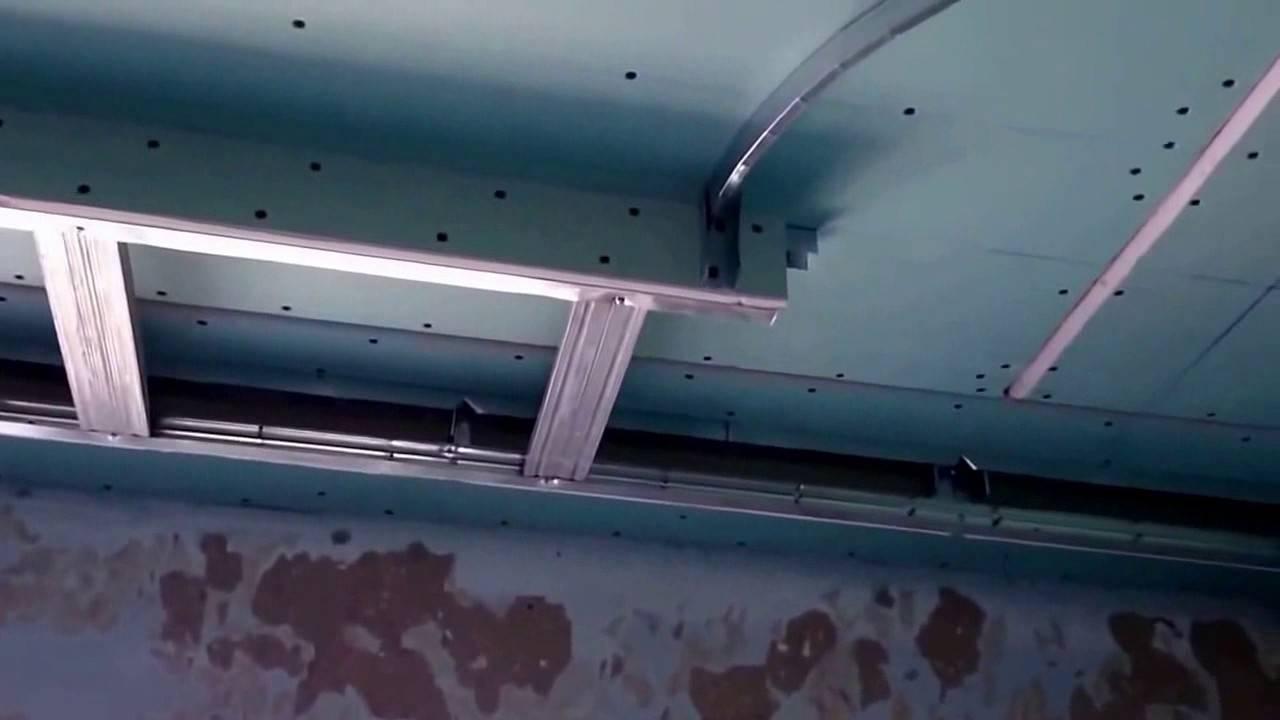 Двухуровневый потолок из гипсокартона — как сделать своими руками
